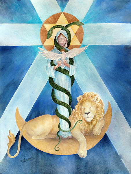 Mother Mary - Lion's Gateway art print