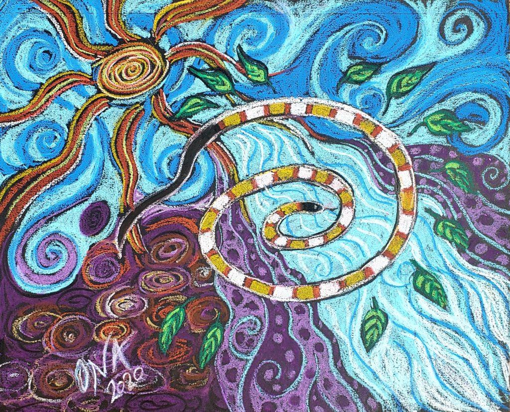 Snake spirit animal painting