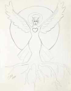 Owl Woman drawing