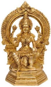 Goddess Lakshmi with owl